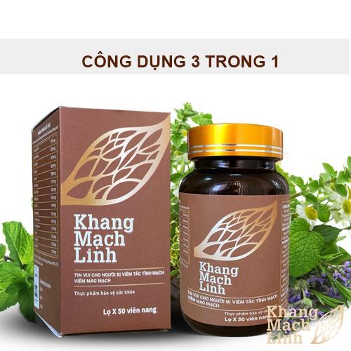Công dụng 3 trong 1 của sản phẩm Khang Mạch Linh