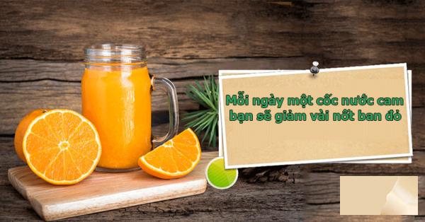 Mỗi ngày một cốc nước cam bạn sẽ giảm vài nốt ban đỏ
